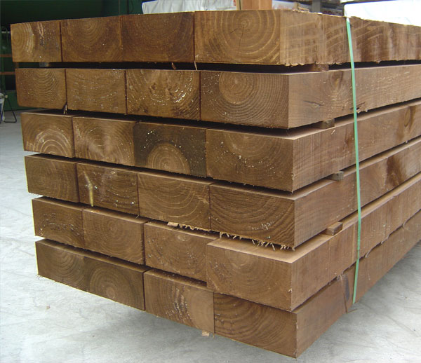 Ecotraviesas traviesas ecol gicas madera exterior - Vigas de madera en valencia ...